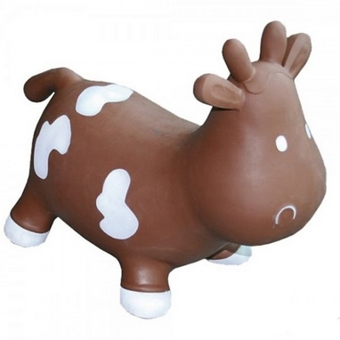 Прыгун-коровка Kidzzfarm Бетси с насосом коричневый
