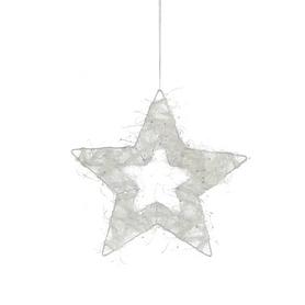 Украшение декоративное Christmas House Звезда белая блестящая 20 см