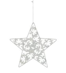 Украшение декоративное Christmas House Звезда белая 20 см
