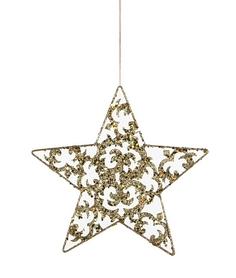 Украшение декоративное Christmas House Звезда золотистая 20 см