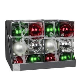 Ёлочные шары Christmas House 6 шт красно-зеленые