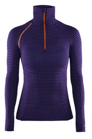 Термофутболка женская Craft Extreme Zip Turtle Neck LS W Dynasty/Lilac/Flourange - S