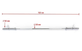 Фото 4 к товару Гриф штанги oлимпийский прямой TA-8069, 150 см, 50/28 мм