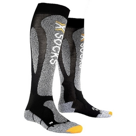 Термоноски лыжные унисекс X-Socks Ski Carving Silver black/grey melange