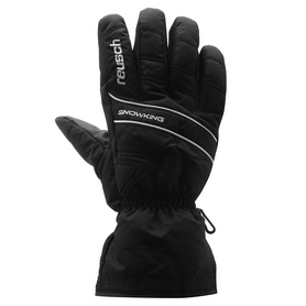 Перчатки горнолыжные Reusch Snow King черные