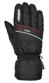 Перчатки горнолыжные Reusch Snow King черные с красным