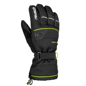 Перчатки горнолыжные Reusch Connor R-Tex XT черные с желтым