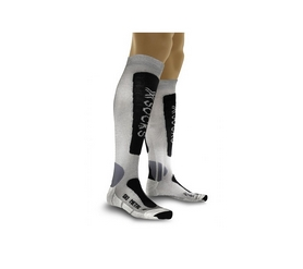 Носки лыжные женские X-Socks Ski Metal серые 35/38 2018