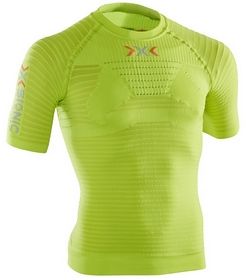 Термофутболка мужская X-Bionic Effector Power Shirt Short Sleeves green lime/pearl grey