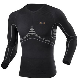 Термофутболка мужская X-Bionic Extra Warm Long Sleeves Roundneck black/pearl gray