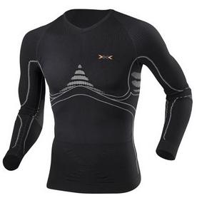 Термофутболка мужская X-Bionic Extra Warm Long Sleeves Roundneck black/pearl gray