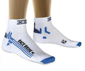 Термоноски женские X-Socks Bike Racing Lady White/Light Blue