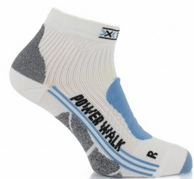 Термоноски женские X-Socks Nordic Walking Lady white/sky blue
