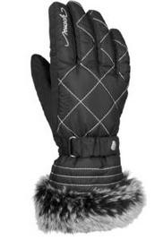 Перчатки горнолыжные женские Reusch Marle black/silver