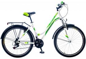 """Велосипед городской Formula Omega AM 14G Vbr St с багажником 26"""" 2016 бело-зеленый, рама 18"""""""