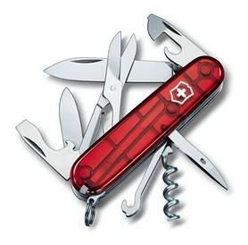 Нож швейцарский Victorinox Climber 91 мм красный/прозрачный