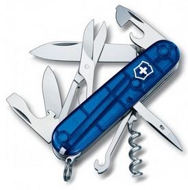 Нож швейцарский Victorinox Climber 91 мм синий/прозрачный