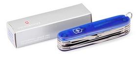 Фото 5 к товару Нож швейцарский Victorinox Huntsman 91 мм синий/прозрачный