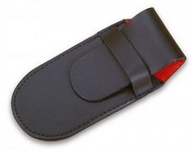Чехол для складных ножей Victorinox кожаный чёрный - 2-3 слоя