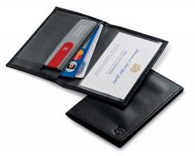 Чехол кожаный для Victorinox SwissCard черный