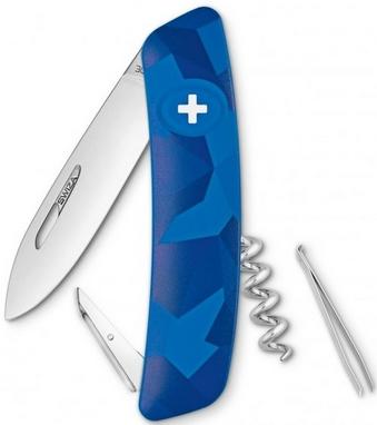 Нож швейцарский Swiza C01 Livor синий