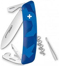 Нож швейцарский Swiza C03 Livor синий