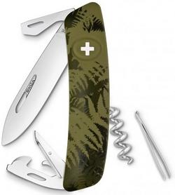 Нож швейцарский Swiza C03 Silva хаки