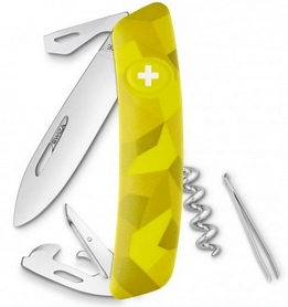 Нож швейцарский Swiza C03 Velor желтый