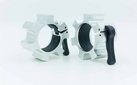 Замки алюминиевые для грифа Zelart Lock-Jaw Pro 50мм TA-5109 серебрянные
