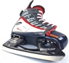 Коньки раздвижные детские хоккейные Tri-Gold PVC TG-KH901R черно-красные 32-35 - фото 3