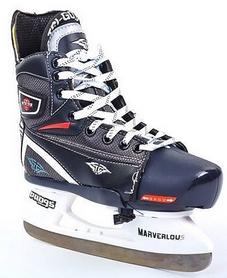 Фото 3 к товару Коньки раздвижные детские хоккейные Tri-Gold PVC TG-KH091R черные 32-35