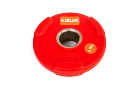 Диск обрезиненный 2,5 кг Zelart PU TA-5336(50)-2,5 - 50 мм