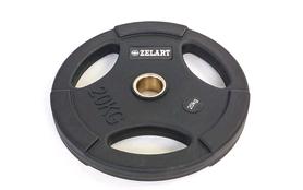Диск обрезиненный 20 кг Zelart PU TA-5336(50)-20 - 50 мм