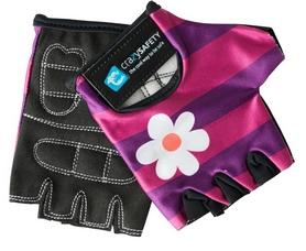 Перчатки велосипедные детские CrazySafety Чеширский кот 540195-20 фиолетовые