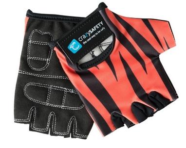 Перчатки велосипедные детские CrazySafety Тигр 540120-20 красные