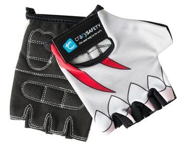 Перчатки велосипедные детские CrazySafety Белая Акула 540125-20 белые