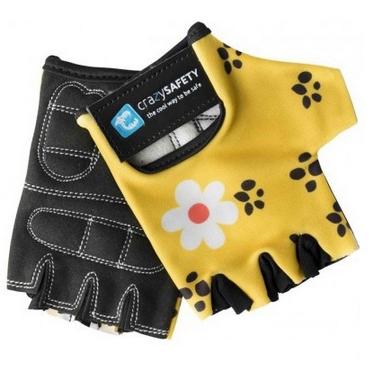 Перчатки велосипедные детские CrazySafety Леопард 540145-20 желтые
