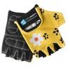 Перчатки велосипедные детские CrazySafety Леопард 540145-20 желтые - фото 1