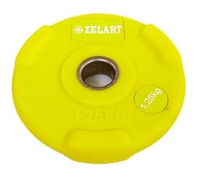 Диск обрезиненный 1,25 кг Zelart PU TA-5336(28)-1,25 - 28 мм