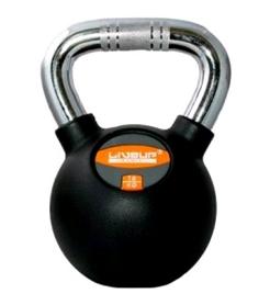Гиря обрезиненная Live Up Rubber Kettel Dumbell 16 кг