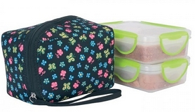 Термос пищевой Laken 2 PP Thermo food container 0,6 л + NP Cover Flower