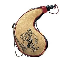 Фляга Laken Leather canteen 1000 мл kidney shape