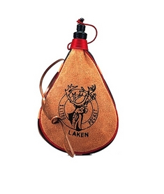 Фляга Laken Leather canteen 1000 мл straight form