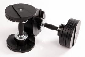 Фото 3 к товару Гантели с переменным весом со стойкой Finnlo Smart Lock 2x20 кг