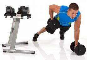 Фото 5 к товару Гантели с переменным весом со стойкой Finnlo Smart Lock 2x20 кг