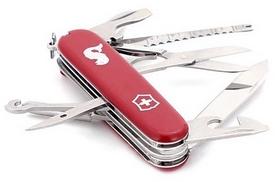 Фото 2 к товару Нож швейцарский Victorinox Angler 91 мм красный