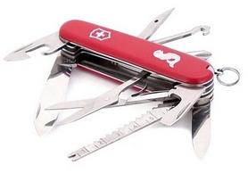 Фото 3 к товару Нож швейцарский Victorinox Angler 91 мм красный