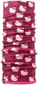 Головной убор детский зимний многофункциональный Buff Hello Kitty Child Polar wink/dragon fruit