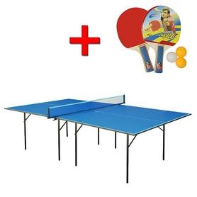 Фото 1 к товару Стол теннисный для помещений Gk-1 синий + подарок