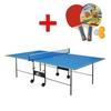 Стол теннисный складной для помещений Gk-2 синий + подарок - фото 1